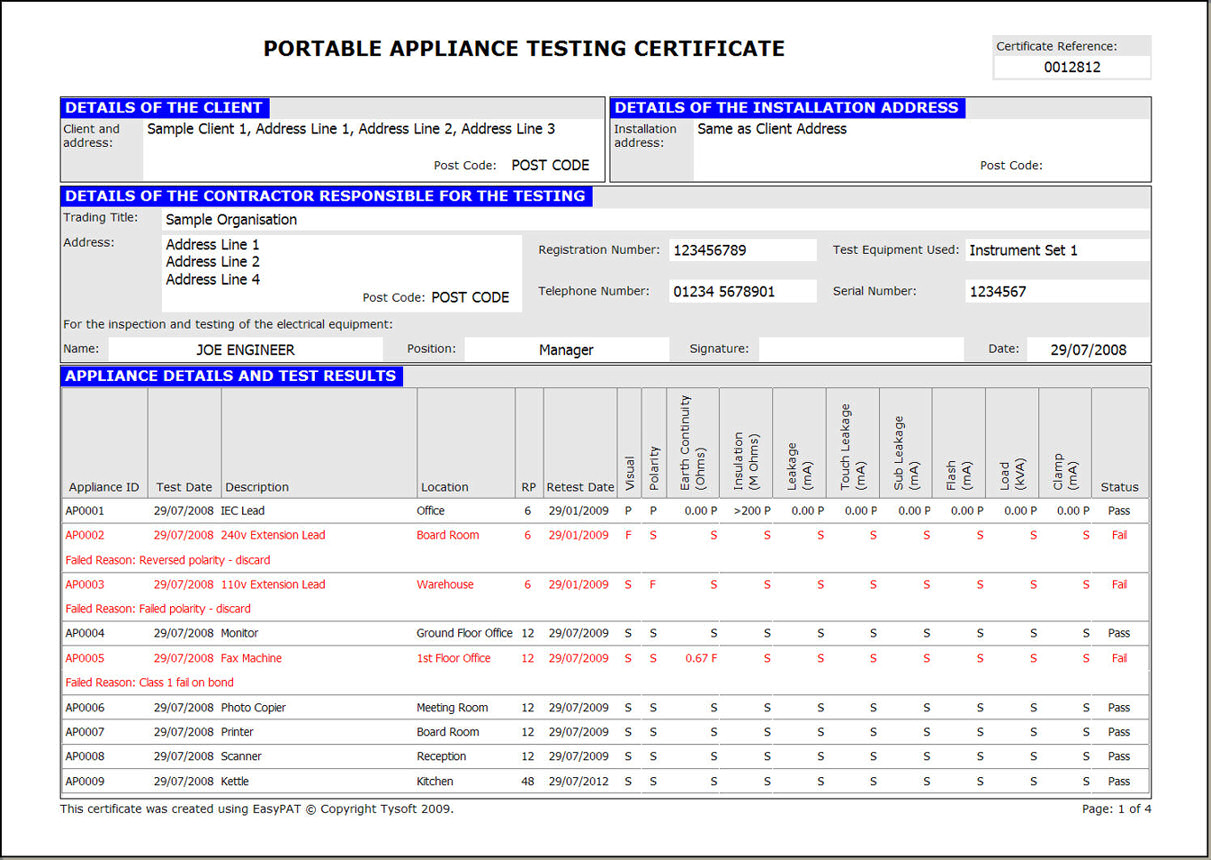 Electrical Equipment Test Report Format Great Installation Of